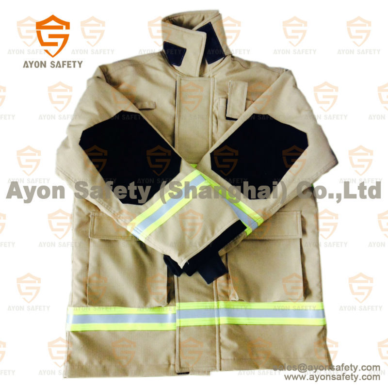 Ce Certificated Fireman Protective Suit Fireman Jacket And Pants ...
