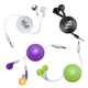 Best promotion earbuds custom gift ear piece stereo retractable earphones china wholesale
