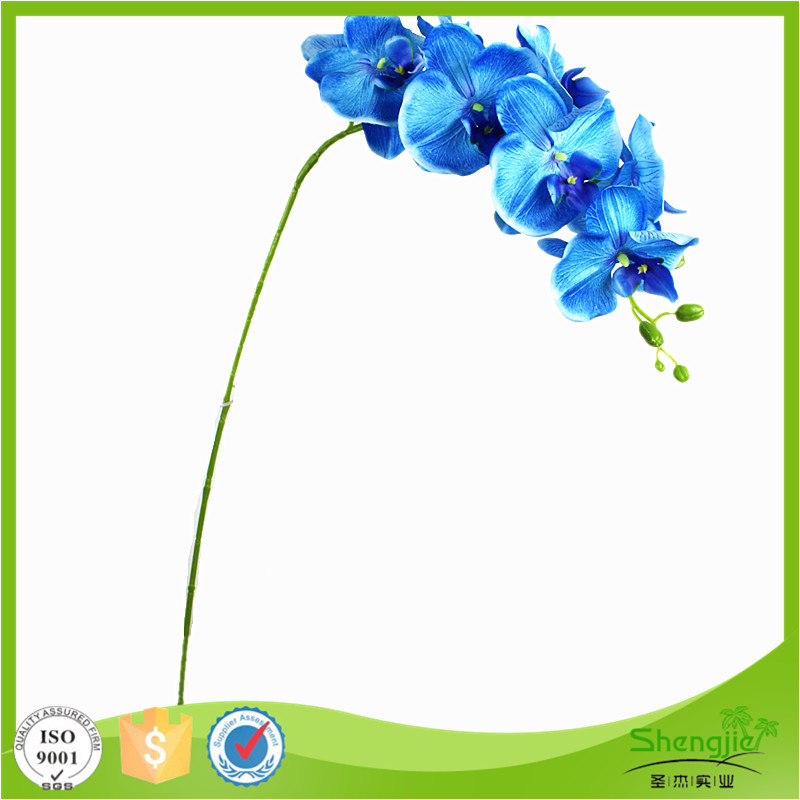 Latest product long stems silk blue orchids artificial flowers for home decoration
