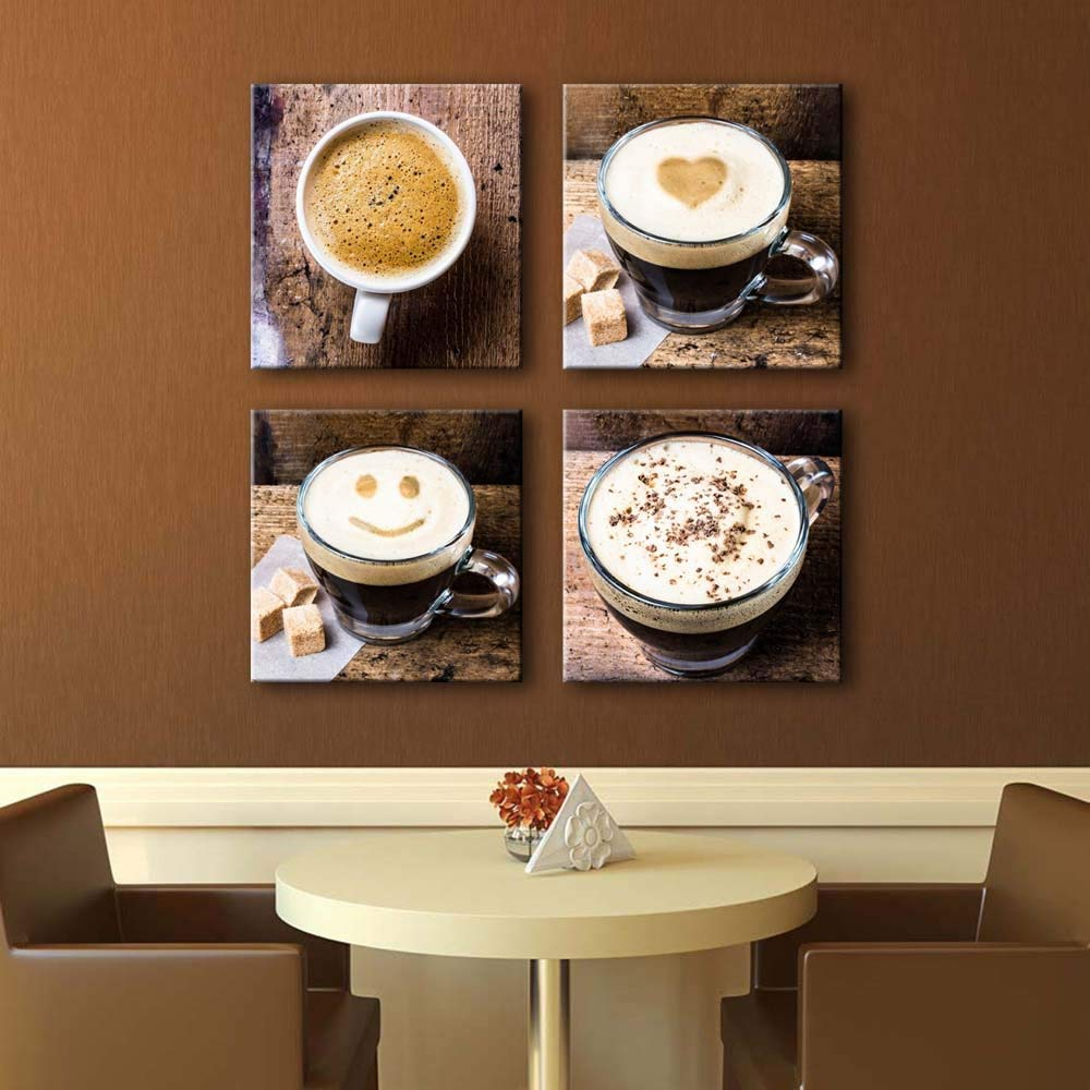 4e75ea25542e Get Quotations · Noah Art-Contemporary Coffee Cup Wall Decor Canvas Prints