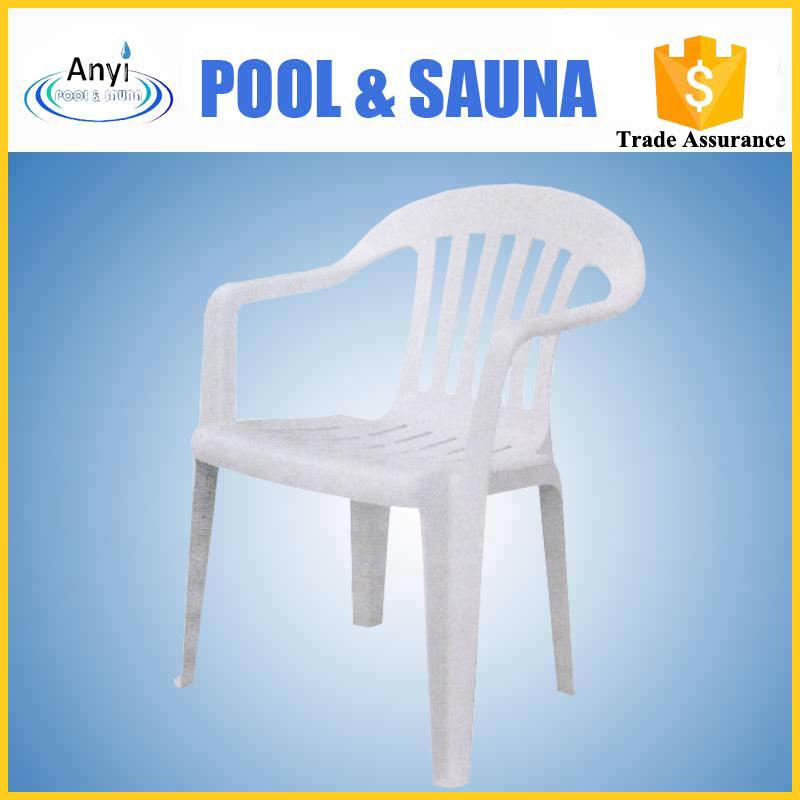 Muebles de jard n de pl stico blanco sillas de playa con 4 for Mobiliario jardin plastico