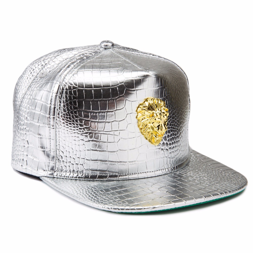 b446b3e95c4e8 Gold Plated Lion Head Lion King Baseball Cap Hat Sports Hip Hop Snapback Cap