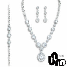 BAMA Fashion Jewelry for Wedding and Party with 925 Sterling Silver With White CZ