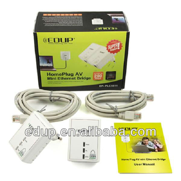 200Mbps Home Plug AV Mini Ethernet Bridge Powerline adapter