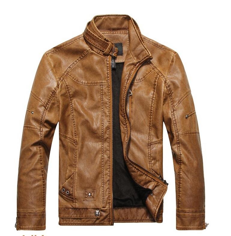 Wantdo Men's Winter Leather Jacket Warm Windproof Outerwear Coat(Black Heavy,Medium)