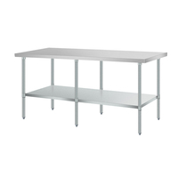 High quality 2 layer bakery 18/8 stainless steel working table for kitchen