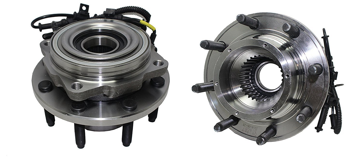 Detroit Axle - Brand New (Both) Front Wheel Hub and Bearing Assembly [SINGLE REAR WHEEL] F250/350/450/550 Super Duty Super Duty 4WD 8 Lug W/ ABS (Pair) 515081 x2