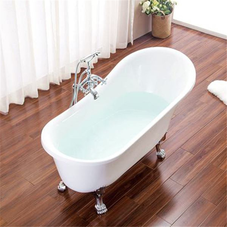 Antique claw foot acrylic soaking bath tub freestanding bath Hangzhou
