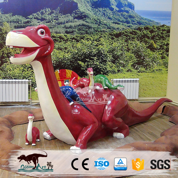 Mooie fiberglass cartoon dinosaurus