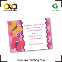 A4 size custom printed your brand logo taobao best price cardboard greeting card