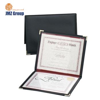 Hot Gold Foil Certificate Holders Classic Paper Certificate File ...