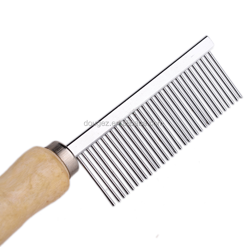 Hot Sale Professional factory supplywooden handle pet brush for pet grooming with 2 hours replied