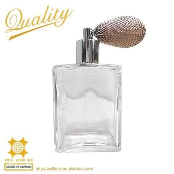 valentines day bulb sprayer square glass empty perfume bottles - Valentine Perfume