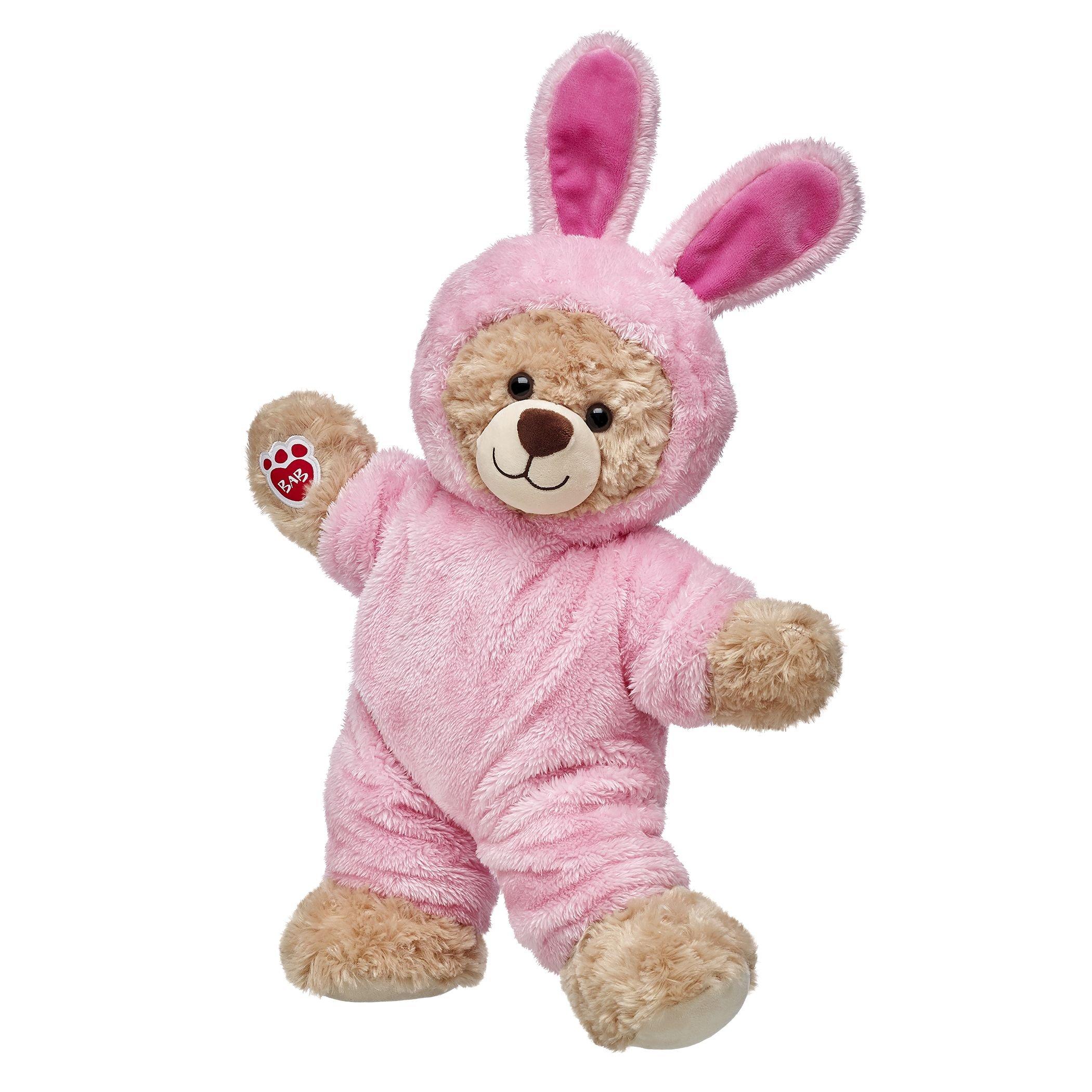 Build-a-Bear Workshop Happy Hugs Teddy Bear in Pink Bunny Costume Gift Set
