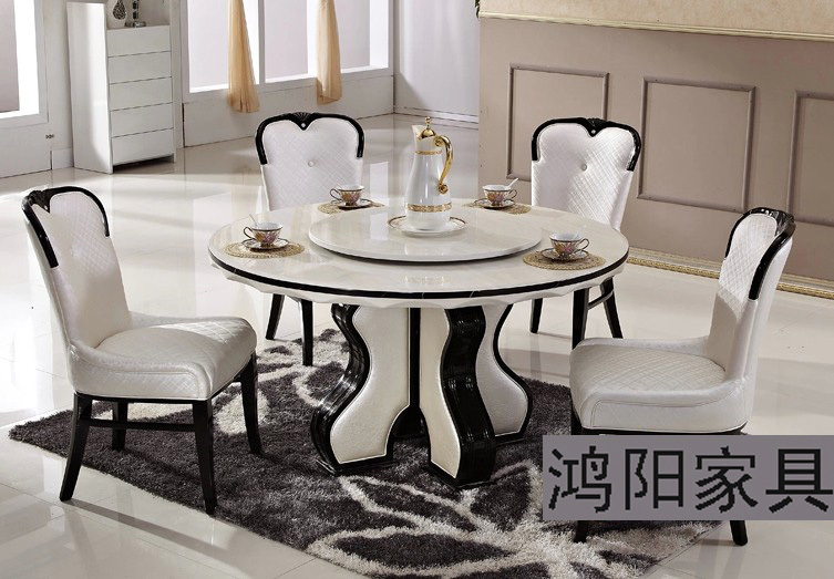 ikea blanc manger en marbre table ronde table tournante en bois massif table et chaises. Black Bedroom Furniture Sets. Home Design Ideas