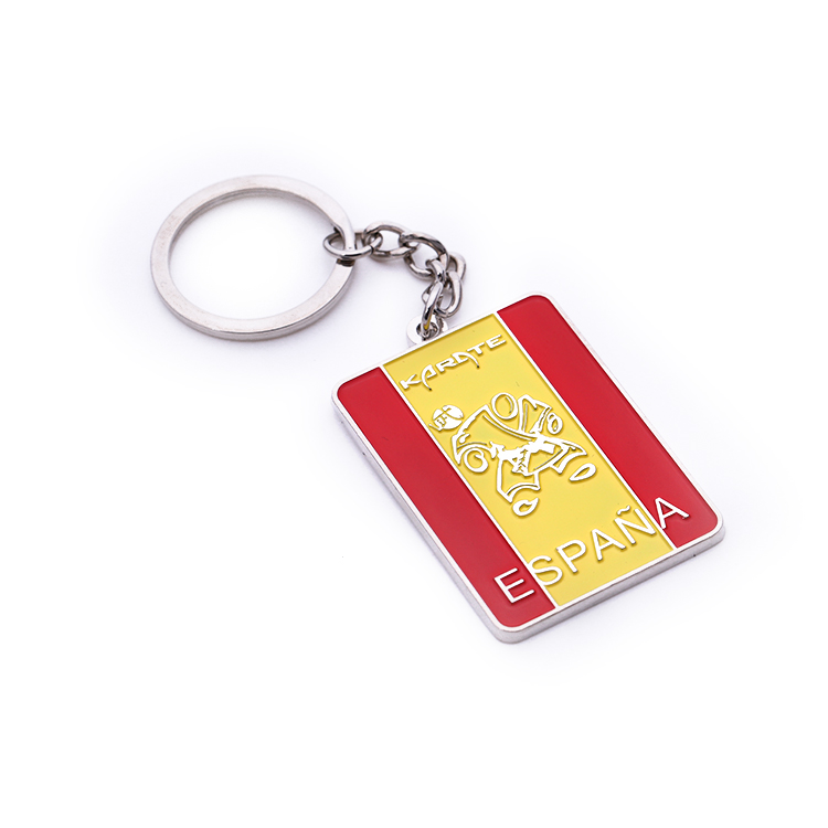Originality design customization cheap zinc alloy custom hard enamel kung fu keychain