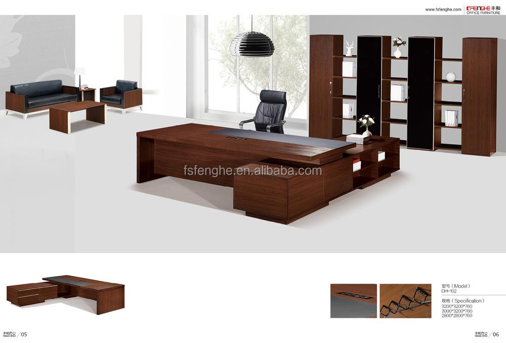 Bois massif bureau de direction chine meubles grand bureau exécutif