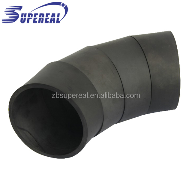 Acid and alkali resistant SiSiC silicon carbide wear resistance lining pipe / ceramic wear tube