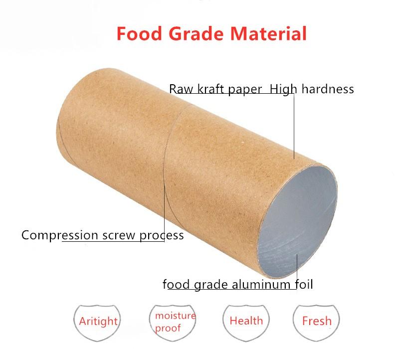 Kustom Didaur Ulang Food Grade Bulat Kertas Karton Kemasan Kotak Meletakkan Keripik Kentang