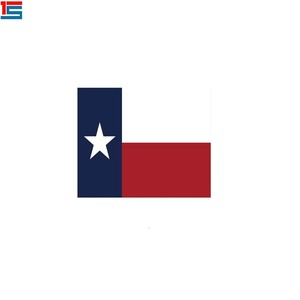 Bright colors silk screen printing Texas flag bandana square scarf