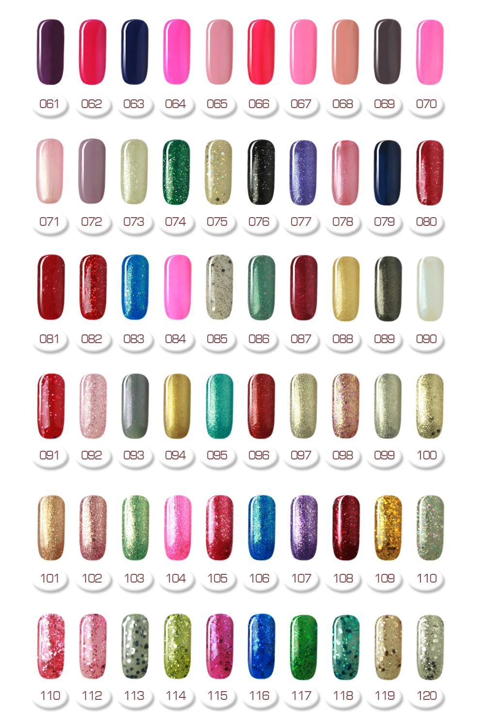 Global fashion professional soak off gel color nail art kit uv gel