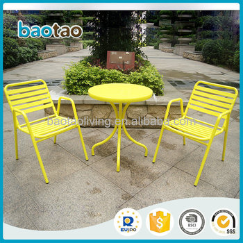 fun color aluminum table and chair outdoor cafe furniture buy