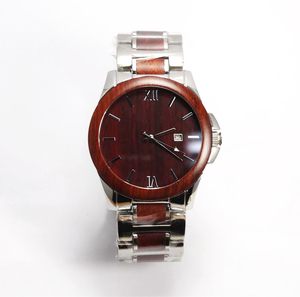 Sapphire crystal japan movt brand waterproof wooden wristwatch 5 atm water resistant stainless steel watch