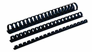 Fellowes Plastic Comb Bindings, 5/16 inch Dia, 40 Sheet Capacity, Navy Blue, 100 Combs/Pack