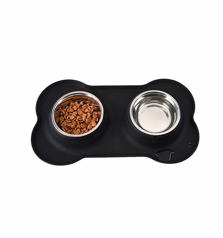 New Design High Quality Foldable Pet Double Bowl Portable Dog Feeder Bowl