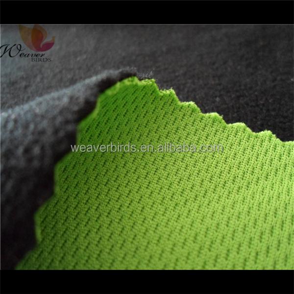 3 layer softshell breathable eyelet fabric +TPU + Polar fleece for jackets fabric