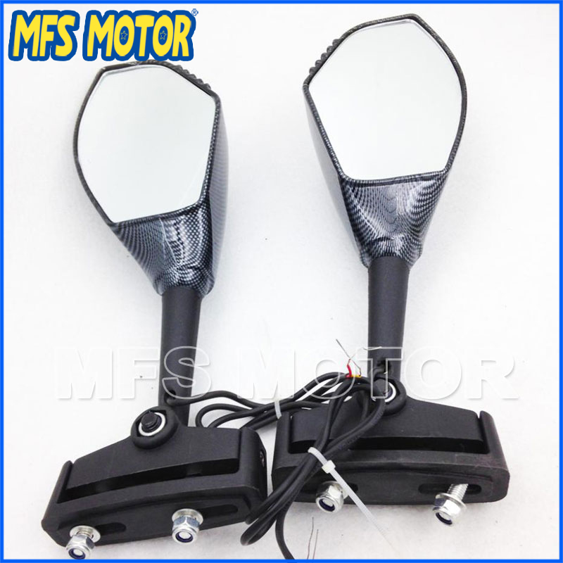 Motorcycle Accessories Hurricane Carbon clear Integrated Turn Signal Mirror For Honda CBR 600 F4 f4i RR F1
