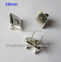 Factory supply square shaped magnetic snap button for handbag