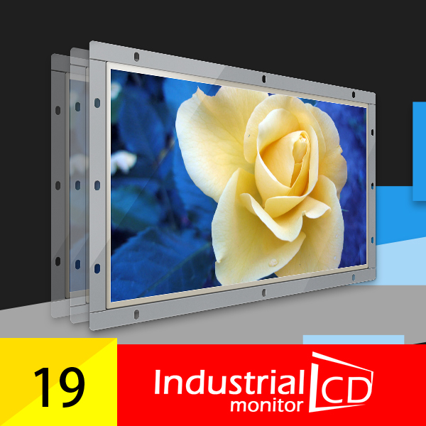 19 Inch Widescreen Resistive 1440*900 Used Touch Screen Monitor Panel With VGA USB Interface Open Frame LCD Monitor For Industry