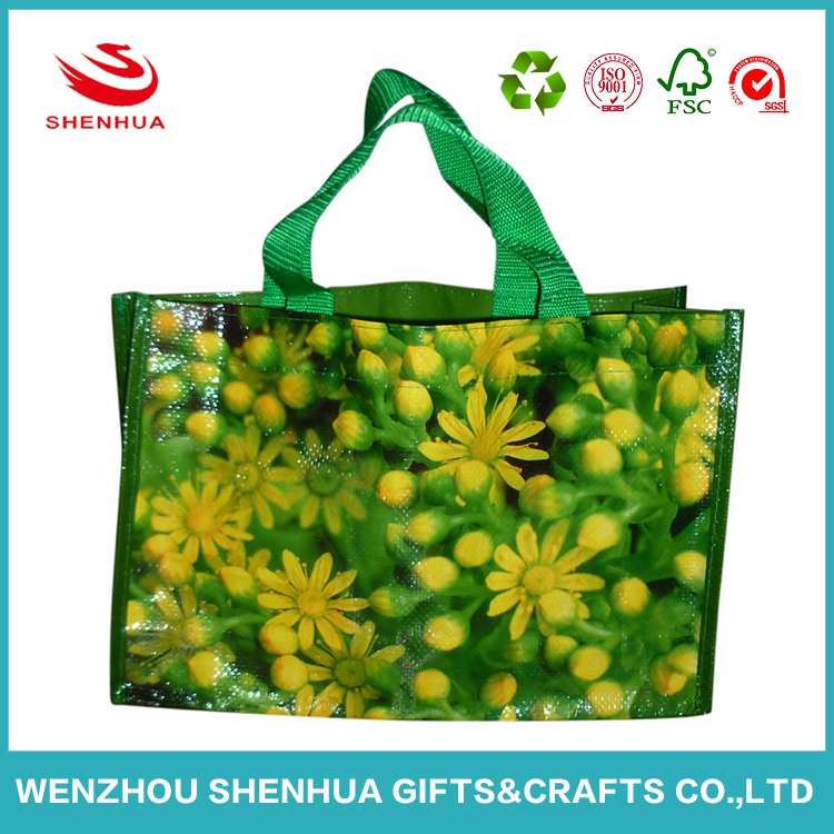 hot selling foldable laminated nonwoven shopping bag