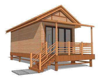Prefab moderne stijl stalen structuur villa houten hut; houten huis