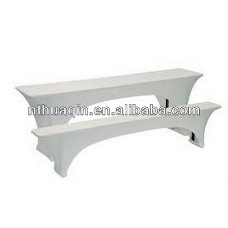 White Spandex Stretch Beer Bench Cover