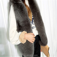 Winter Fox Fur Vest Faux Fur Vest Women Jacket Mink Waistcoat Outerwear Short Soft Women Jacket Outerwear Fur Coat Gilet fpc-478