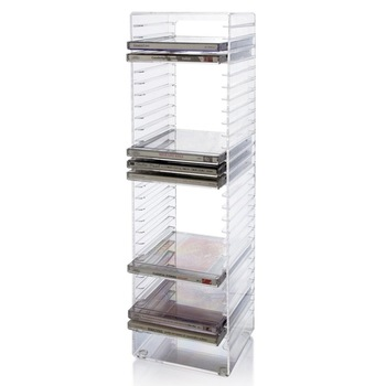 Acrylic CD Tower CD Storage Box, Custom Acrylic DVD Case Perspex CD DVD  Rack Holder