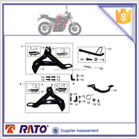 Original factory parts whole sale 200cc motorcycle accessories footrest assy for UM brand motorbike