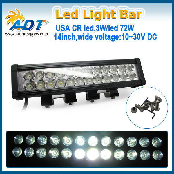Hot sale 72W LED working light bar for offroad truck Jeep ATV UTV SUV
