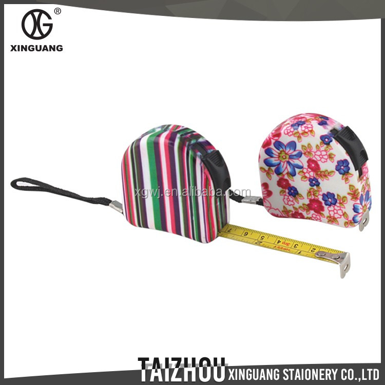 Beautiful Designed 3 meters floral lady's promotional metal tape measure