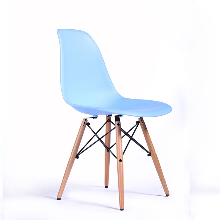 Modern design colorful wood legs plastic baby dining low chair