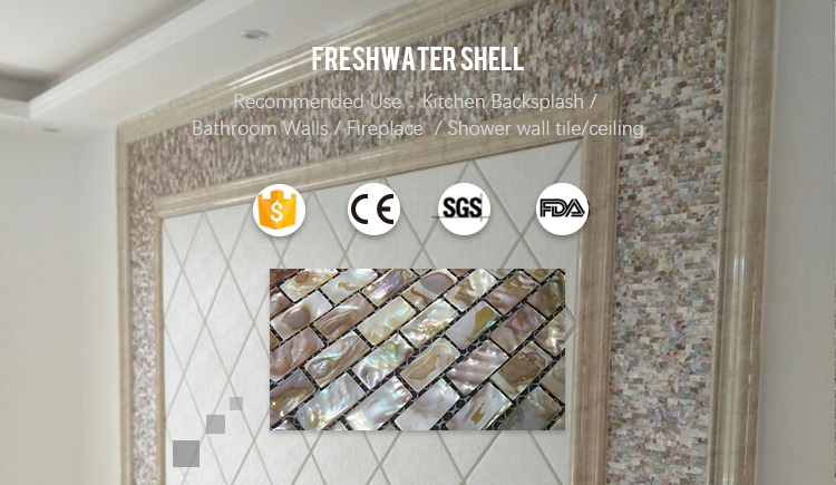 Iridescent Mother Of Pearl Subway Tile Backsplashfreshwater Pearl