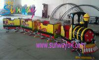 Amusement rides trackless train, amusement park electric train ride, kids riding train