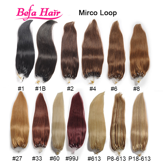 Befa Hair wholesale factory price micro ring hair extensions micro link brazilian hair