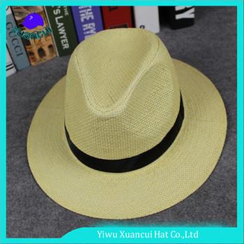 7b4024615b2 Customized paper straw sun hats black band panama men straw hat for sale