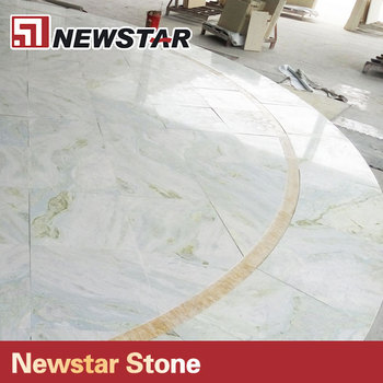 Curved Pattern Transparent Cyan Marble Stone Light Blue Onyx Floor