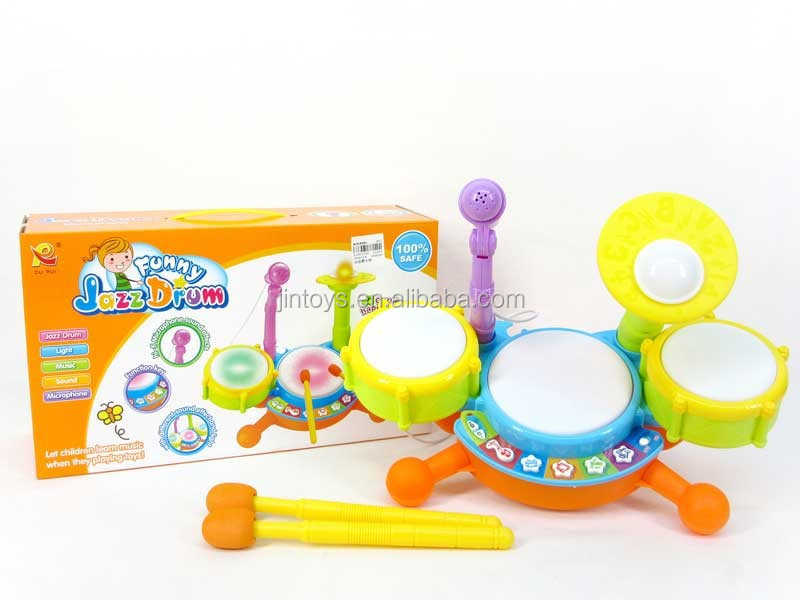 New musical toys Funny kids mini jazz drum set with microphone and rod