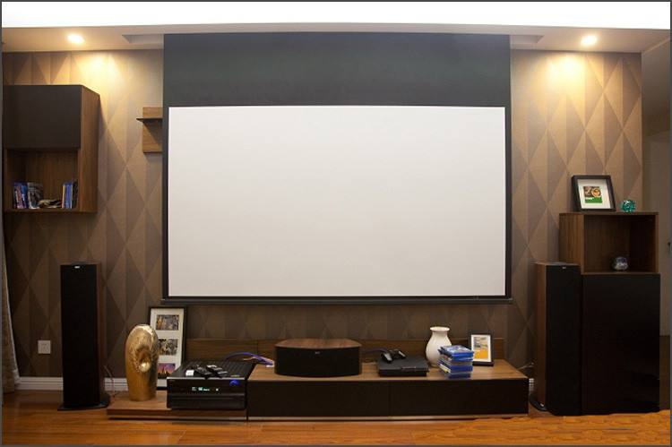 "Future 120"" Projector Screen Diagonal Motorized Electric Projection Screen Square Format Bast for watching movie"