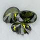 Oval stone made peridot best cubic zirconia gemstone in stock